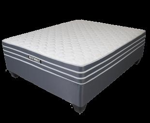 Restonic Indigo Firm Queen Bed Set Extra Length