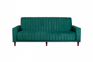 Retro Sleeper Couch - Emerald Green