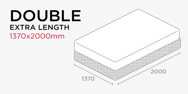 Shop by Length - Double Bed - Extra Length - 1370x2000m