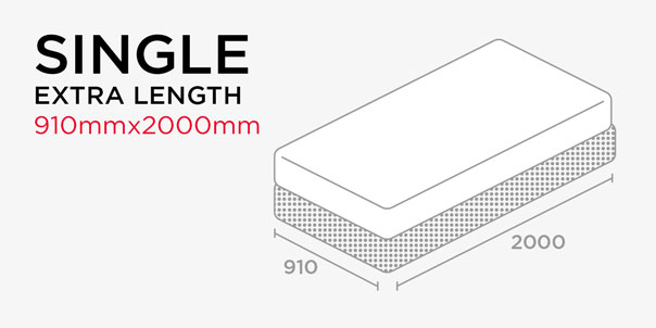 Shop by Length - Single Bed - Extra Length - 910X2000mm